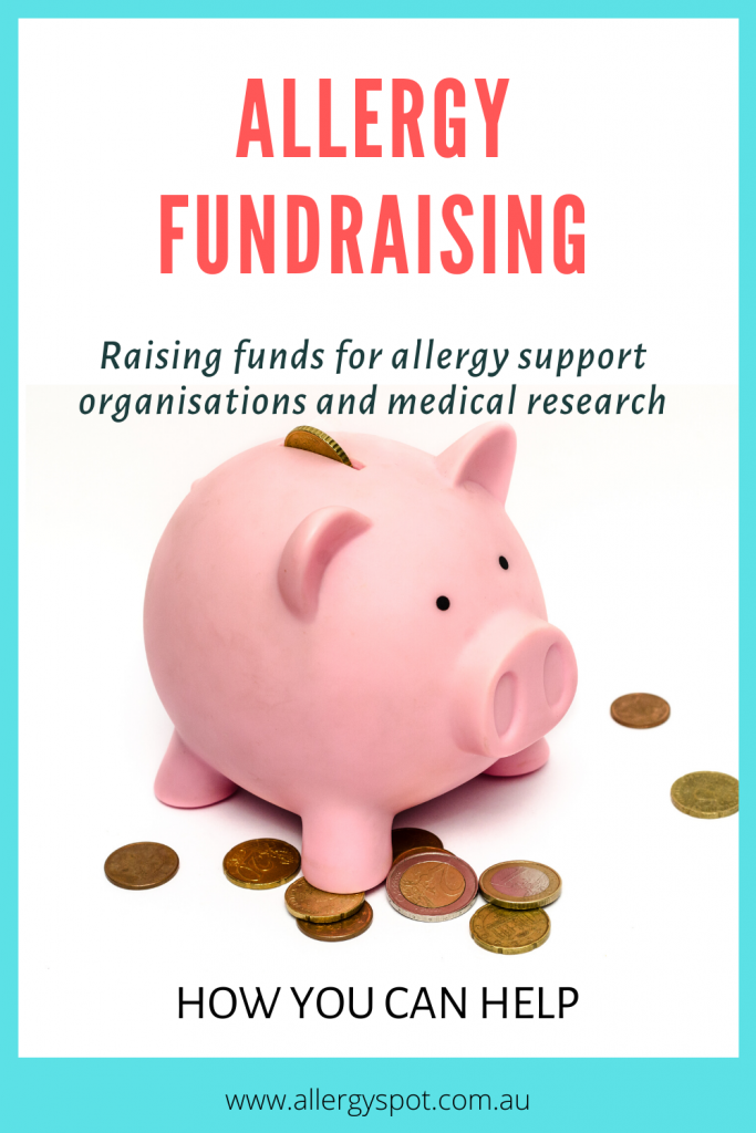 Allergy fundraising for support organisations and medical research