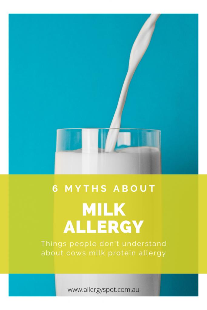 6 myths about milk allergy
