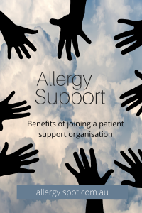 Allergy support and patient support organisations
