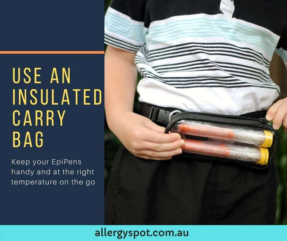Use an insulated carry bag for your EpiPens