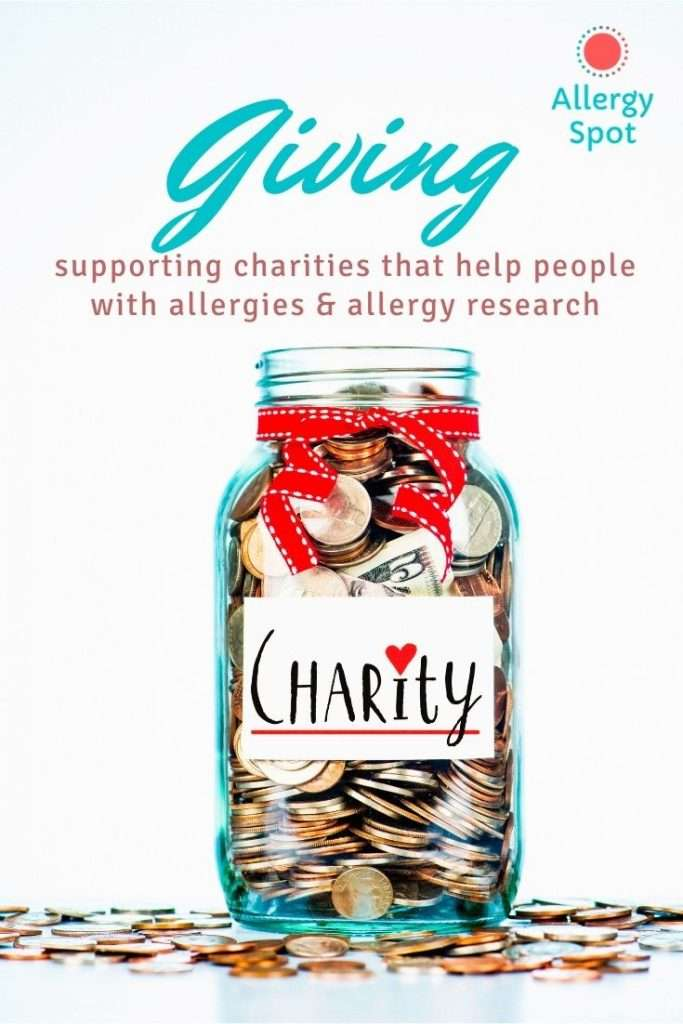 Allergy Spot Giving.  Supporting charities that help people with allergies and allergy research,